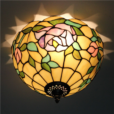CE120016 12 inch Tiffany Style ceiling lamp Tiffany Bedroom Ceiling Light Flush Mount Ceiling Lighti