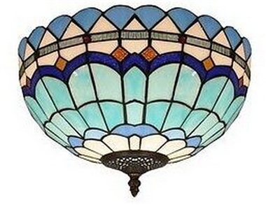 CE120025 12 inch tiffany ceiling lamp Round Glass Flush Mount Ceiling Lighting