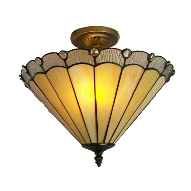 CE160003 16 inch tiffany ceiling lamp Round Glass Flush Mount Ceiling Lighting