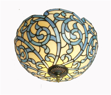CE160005 16 inch tiffany ceiling lamp Round Glass Flush Mount Ceiling Lighting