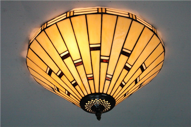 CE160006 16 inch tiffany ceiling lamp Round Glass Flush Mount Ceiling Lighting