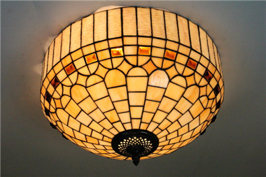 CE160016 16 inch tiffany ceiling lamp Round Glass Flush Mount Ceiling Lighting