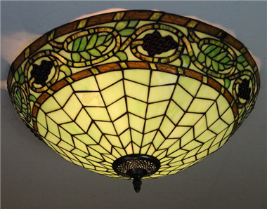 CE200005 20 inch tiffany ceiling lamp Round Glass Flush Mount Ceiling Lighting