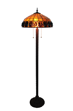 FL160004 16 inch Tiffany floor lamp stained glass floor lamp from China