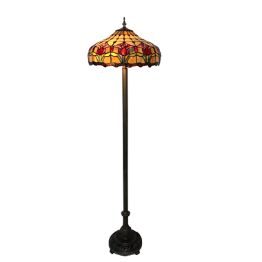 FL160006 16 inch Tiffany floor lamp stained glass floor lamp from China