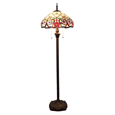 FL160007 16 inch Tiffany floor lamp stained glass floor lamp from China