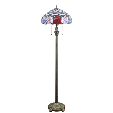 FL160010 16 inch Tiffany floor lamp stained glass floor lamp from China