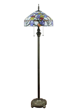 FL160011 16 inch Tiffany floor lamp stained glass floor lamp from China