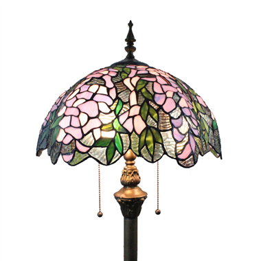 FL160012 16 inch Tiffany floor lamp stained glass floor lamp from China