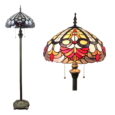 FL160014 16 inch Tiffany floor lamp stained glass floor lamp from China