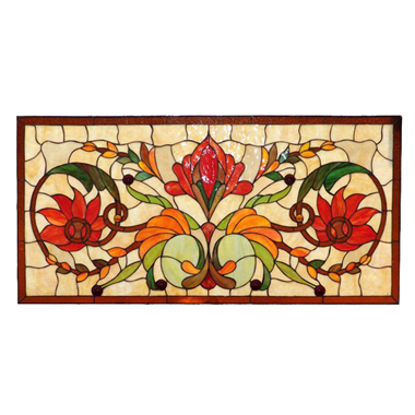 GP00035 Tiffany Style stained glass window panel