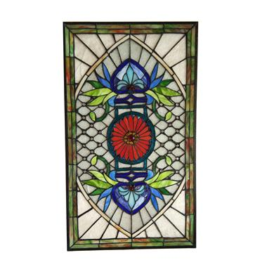 GP00039   Tiffany Style stained glass window panel Wall hanging ornaments