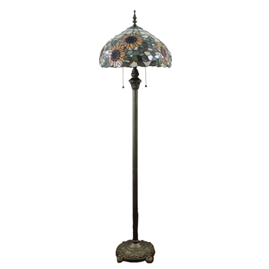 FL160016 16 inch Two lights Tiffany floor lamp stained glass floor lamp from China