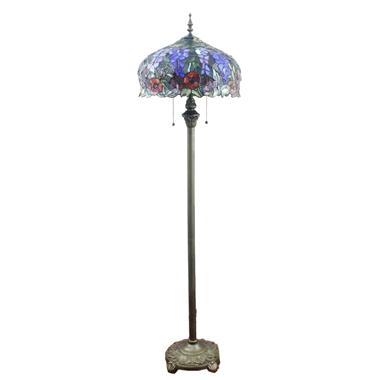 FL160020 16 inch Two lights Tiffany floor lamp stained glass floor lamp from China