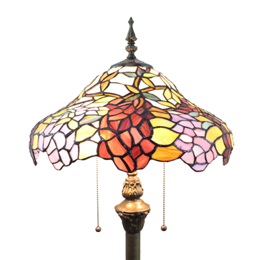 FL160023 16 inch Tiffany floor lamp stained glass floor lamp from China