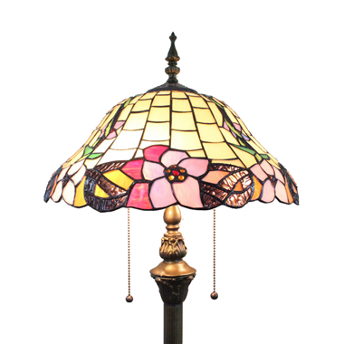 FL160025 16 inch Two lights Tiffany floor lamp stained glass floor lamp from China