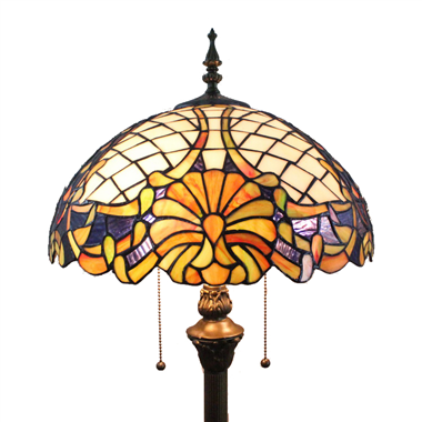 FL160024 16 inch Tiffany floor lamp stained glass floor lamp from China