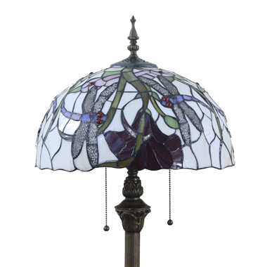 FL160027 16 inch Two lights Tiffany floor lamp stained glass floor lamp from China
