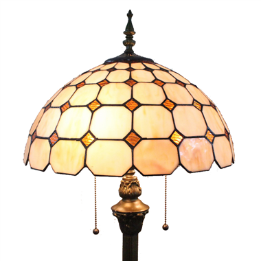 FL160029 16 inch Two lights Tiffany floor lamp stained glass floor lamp from China
