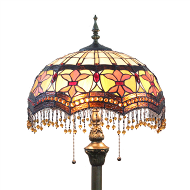 FL160032 16 inch Two lights Tiffany floor lamp stained glass floor lamp from China