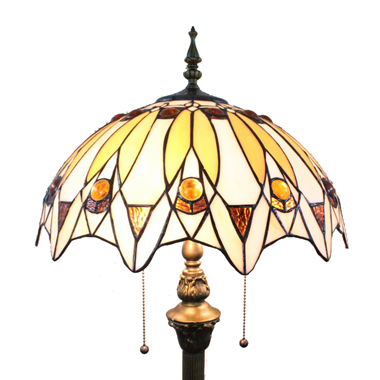 FL160033 16 inch Two lights Tiffany floor lamp stained glass floor lamp from China