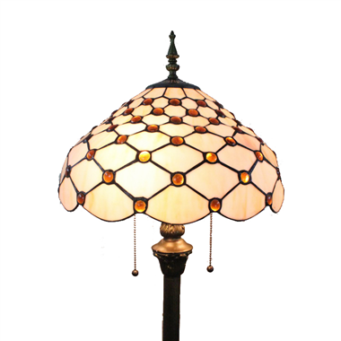 FL160034 16 inch Two lights Tiffany floor lamp stained glass floor lamp from China