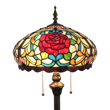 FL160036 16 inch Two lights Tiffany floor lamp stained glass floor lamp from China