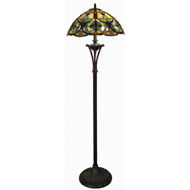 FL160042 16 inch Two lights Tiffany floor lamp stained glass floor lamp from China