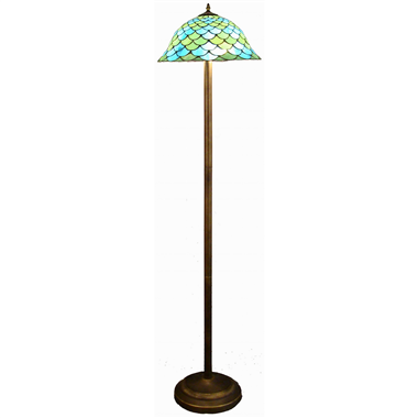 FL160043 16 inch Two lights Tiffany floor lamp stained glass floor lamp from China