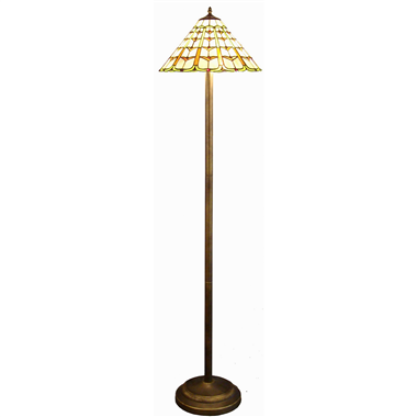 FL160044 16 inch Two lights Tiffany floor lamp stained glass floor lamp from China