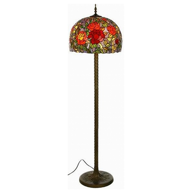 FL160045 16 inch Two lights Tiffany floor lamp stained glass floor lamp from China
