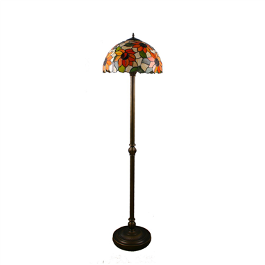 FL160046 16 inch Two lights Tiffany floor lamp stained glass floor lamp from China