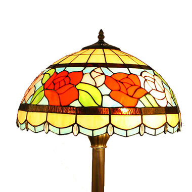 FL160047 16 inch Two lights flower Tiffany floor lamp stained glass floor lamp from China