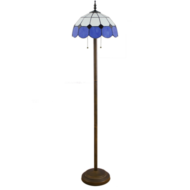 FL160048 16 inch Two lights Tiffany floor lamp stained glass floor lamp from China