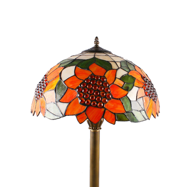FL160050 16 inch Two lights sunny flower Tiffany floor lamp stained glass floor lamp from China
