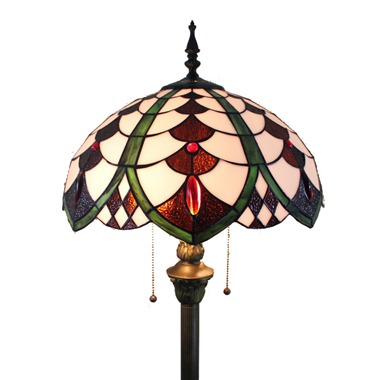 FL160055 16 inch Two lights Tiffany floor lamp stained glass floor lamp from China