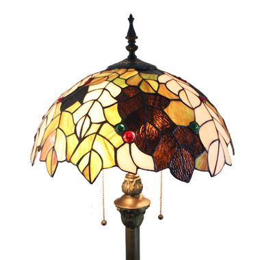FL160056 16 inch Two lights Tiffany floor lamp stained glass floor lamp from China