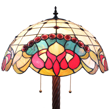 FL160057 16 inch Two lights Tiffany floor lamp stained glass floor lamp from China