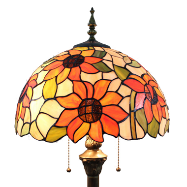 FL160059 16 inch Two lights Tiffany floor lamp stained glass floor lamp from China