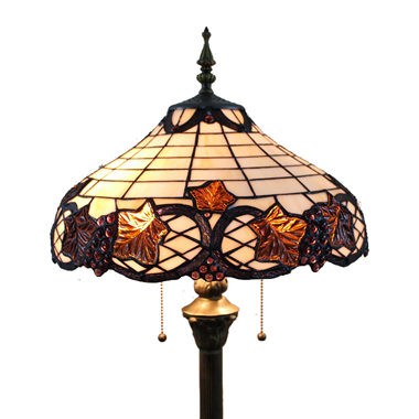 FL160062 16 inch Two lights Tiffany floor lamp stained glass floor lamp from China