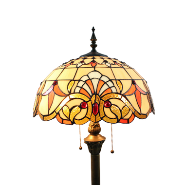 FL160065 16 inch Two lights Tiffany floor lamp stained glass floor lamp from China