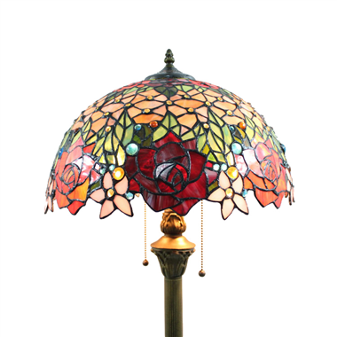 FL160066 16 inch Two lights Tiffany floor lamp stained glass floor lamp from China