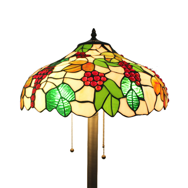 FL160067 16 inch Two lights Tiffany floor lamp stained glass floor lamp from China