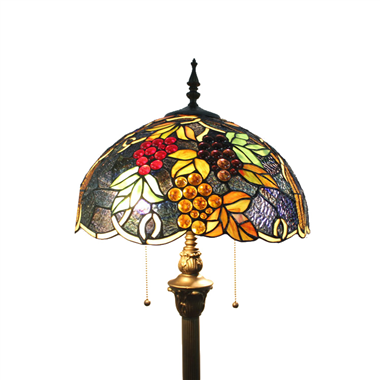 FL160069 16 inch Two lights Tiffany floor lamp stained glass floor lamp from China