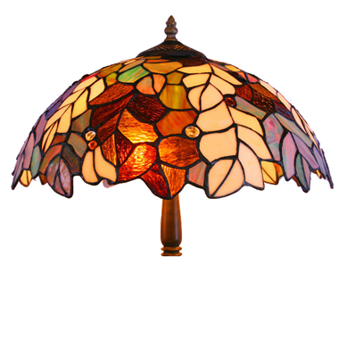 FL160071 16 inch Two lights Tiffany floor lamp stained glass floor lamp from China
