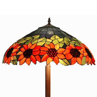 FL200116 20 inch Three lights sunny flower Tiffany floor lamp stained glass floor lamp from China