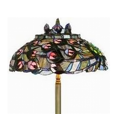 FL200114 20 inch Three lights Peacock feather Tiffany floor lamp stained glass floor lamp from China