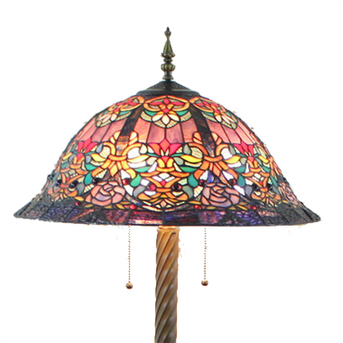 FL200112 20 inch Three lights Tiffany floor lamp stained glass floor lamp from China