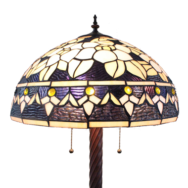 FL200111 20 inch Three lights Tiffany floor lamp stained glass floor lamp from China