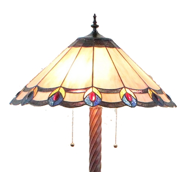 FL200110 20 inch Three lights Tiffany floor lamp stained glass floor lamp from China